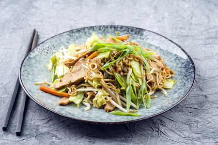 Chicken Yakisoba on Plate