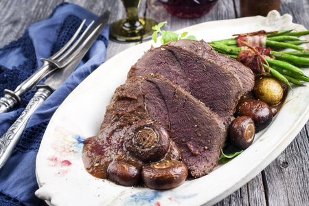 Roast Venison with Vegetable in Deer Sauce