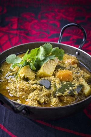 Sweet Potato Curry on Bowl