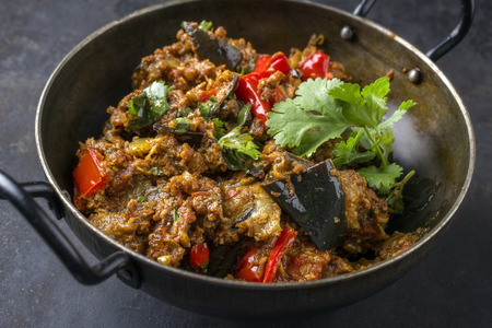 Brinjal Masala Fry in Bowl