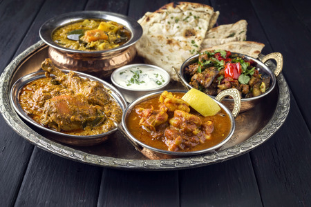 Indian Dished on traditional Thali
