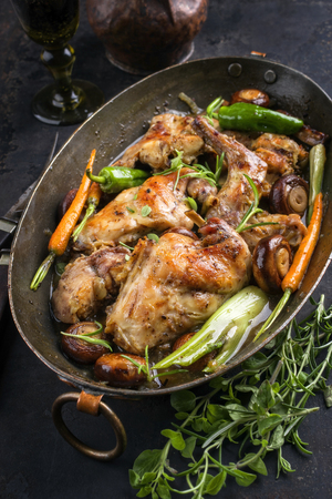 Rabbit with Vegetables and Mushrooms