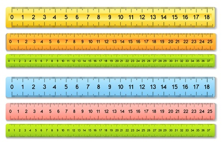 The six color rulers