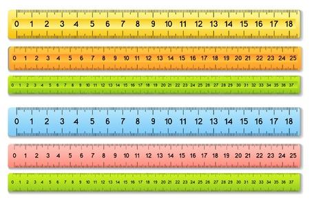Illustration pour The six color rulers - image libre de droit