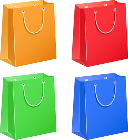 The four color paper bags
