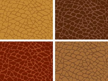 The four skin texture set