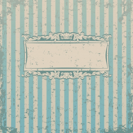 Striped retro background with floral decor and place for you text
