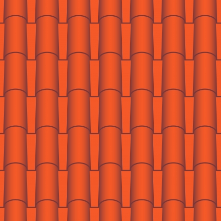 Red roof tiles seamless  Vector texture