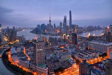 Foto für Shanghai Bund Lujiazui City Architecture Scenery - Lizenzfreies Bild