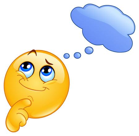 Illustration pour Thinking emoticon - image libre de droit