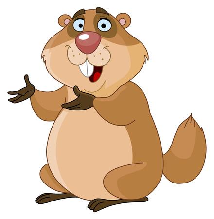 Illustration pour Groundhog - image libre de droit