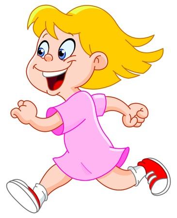Little girl running