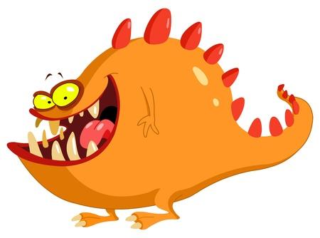 Illustration pour Friendly monster - image libre de droit