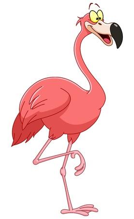 Illustration pour Cartoon flamingo - image libre de droit