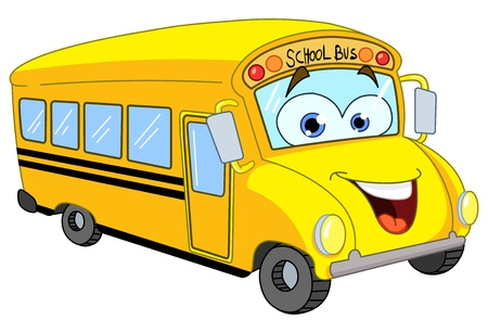 Photo for Cartoon school bus - Royalty Free Image