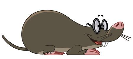 Smiling mole wearing eyeglasses