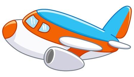 Illustration for Cartoon plane - Royalty Free Image