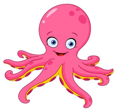 Vektor für Cute octopus - Lizenzfreies Bild