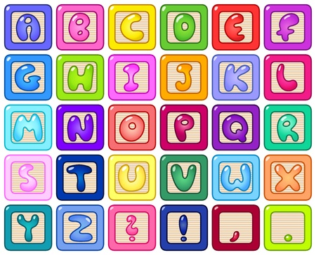 Colorful alphabet blocks