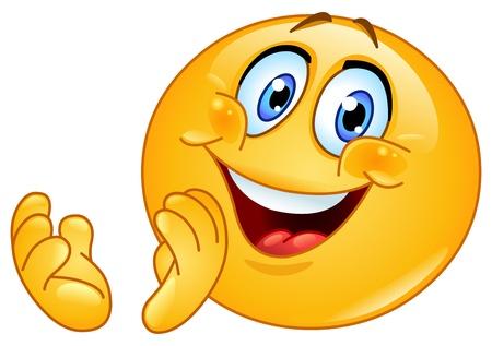 Illustration pour Emoticon clapping - image libre de droit