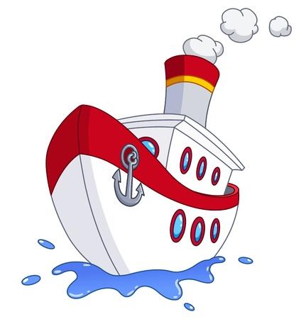 Ilustración de Cartoon ship - Imagen libre de derechos