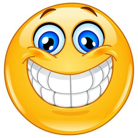Illustration for Emoticon with big toothy smile - Royalty Free Image