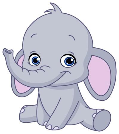 Ilustración de Baby elephant - Imagen libre de derechos