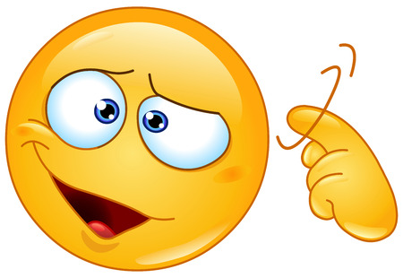 Emoticon showing a screw loose sign by twisting his finger into temple