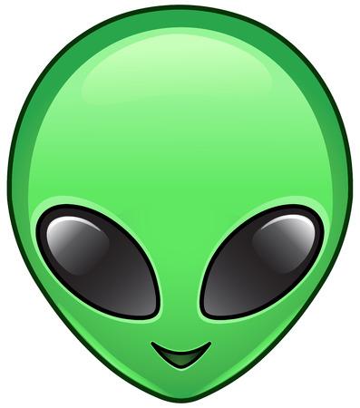 Illustration pour Alien face icon - image libre de droit
