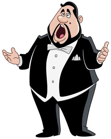 Illustration pour Male opera singer - image libre de droit