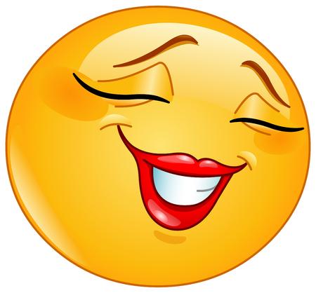 Flattered emoji