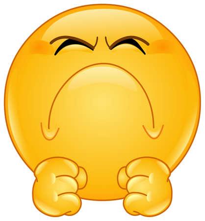Illustration pour Irritated angry mad emoji emoticon - image libre de droit