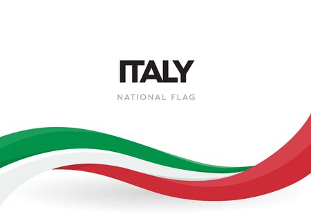 Foto für The Italian Republic waving flag banner. National symbol of Italy poster. Patriotic green, red and white ribbon vector illustration. Festival of the Republic. Public holiday. Independence day. - Lizenzfreies Bild
