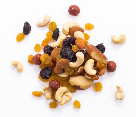 Nuts mix on a white background