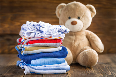 Photo pour Baby clothes - image libre de droit