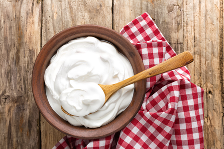 Foto de yogurt - Imagen libre de derechos