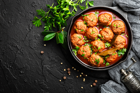 Beef meatballs in tomato sauce