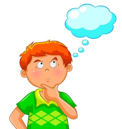 Illustration pour thinking boy - image libre de droit
