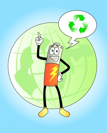 friendly battery supports recycling