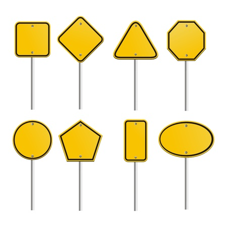 Illustration for blank yellow signs - Royalty Free Image
