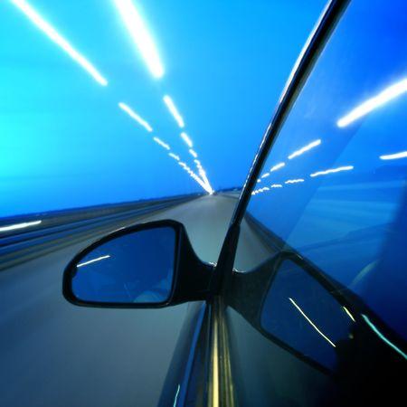 speed transportation at night motion blurred