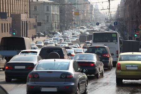 traffic jam city life background