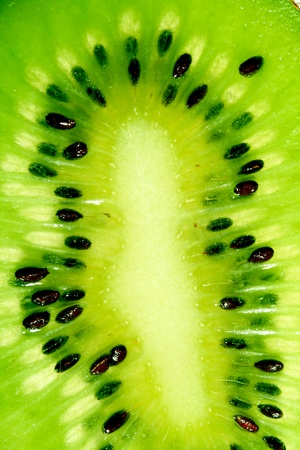 green kiwi slice macro close up