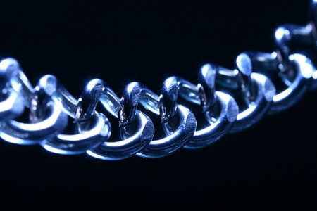 steel chain macro close up