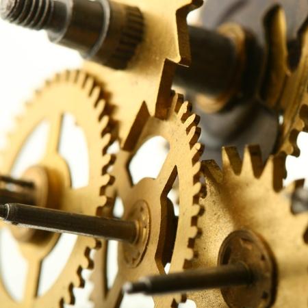 mechanical clock gear macro close up