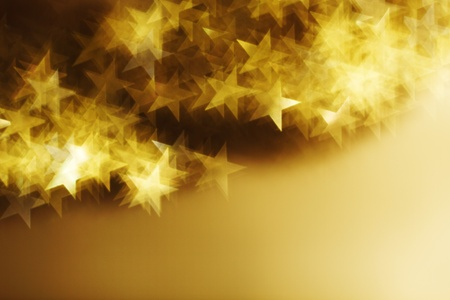 golden star bokeh background close up