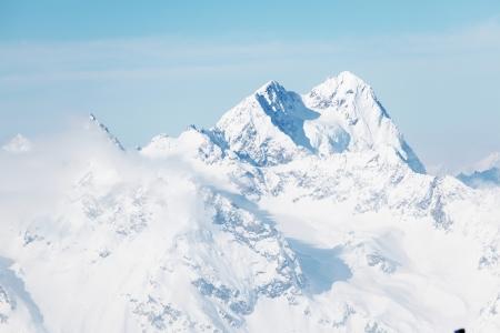 top of alps in sky