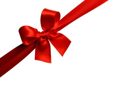 Photo pour Red gift bow isolated on white background - image libre de droit