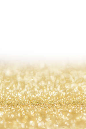 Photo for Shiny golden bokeh glitter lights abstract background, Christmas New Year party celebration concept - Royalty Free Image