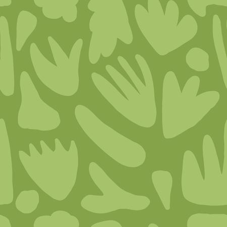 Modern floral seamless pattern. Hand drawn green blots backdrop.
